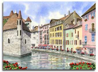 original watercolour paintings of france by english watercolour artist lesley olver maidenhead uk. Black Bedroom Furniture Sets. Home Design Ideas