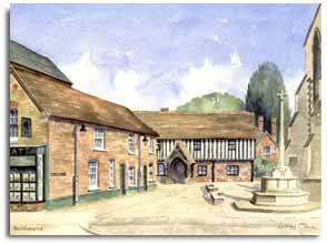 Print of watercolour painting of Berkhamstead, by artist Lesley Olver