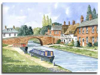 Original watercolour painting of Hungerford, by artist Lesley Olver