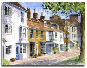 Print of watercolour painting of Tenterden by artist Lesley Olver