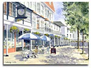 Original watercolour of Tunbridge Wells, by artist Lesley Olver