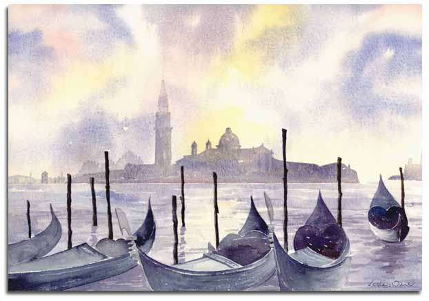 prints of watercolour paintings of venice by watercolour artist