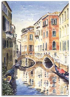 prints of watercolour paintings of venice and st tropez by